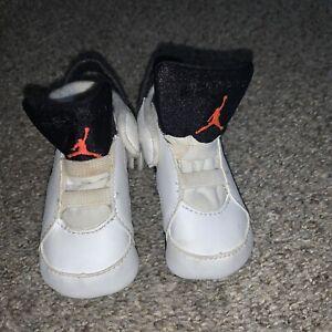 Baby Nike Air Jordan 6 Retro White Size 3C 525442-043 Crib Shoes Infant