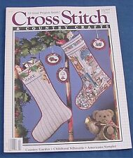 Cross Stitch Country Crafts Christmas Stocking july/August 1988 Holiday Study