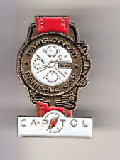 RARE PINS PIN'S .. MODE MONTRE WATCH AUTO CAR PARIS DAKAR RALLYE CAPITOL RED ~B9