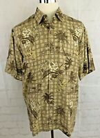 Vintage Cubavera L Hawaiian Shirt Mens Size Lg Button Front Short Sleeve Camp