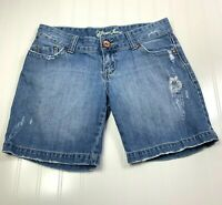 Guess Jeans Womens 29 Distressed Shorts Blue Medium Wash Denim 100% Cotton
