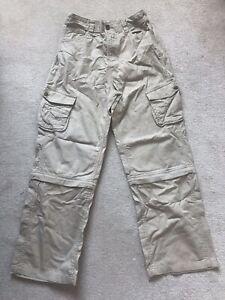 M&S (Indigo JNR) cotton beige trousers / shorts boys 12 yrs