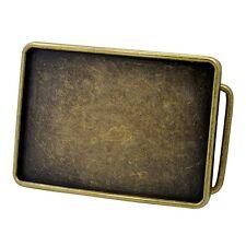 Plain Bronze Blank Custom Western Style Metal Belt Buckle Engraving