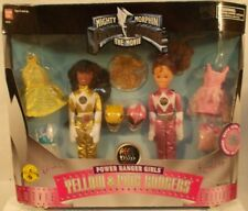"Mighty Morphin Power Rangers Yellow Aisha & Pink Kimberly 9"" Dolls Movie Edition"
