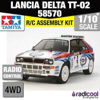 58570 TAMIYA LANCIA DELTA TT-02 1/10th R/C KIT RADIO CONTROL 1/10 CAR NEW!