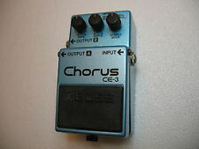 BOSS CE-3 STEREO CHORUS N.O.S. PEDAL GREEN LABEL - NEVER HAD A BATTERY YET ?