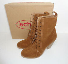 Schuh Ladies Howdy Tan Leather Mid Cowboy Boots Womens New RRP £70.00 Size 8