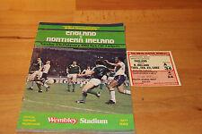 Programm & Ticket 1982 : England v. Northern Ireland → Wembley Stadium