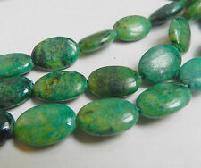 """For Jewelry 13x18mm Green Azurite Chrysocolla Oval Loose Gemstones Beads 15"""""""