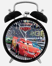 "Disney Cars Mcqueen Alarm Desk Clock 3.75"" Home Office Decor Y106 Nice For Gift"