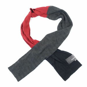 ALFANI COLOR BLOCK GRAY RED BLACK KNIT SOFT SCARVES NECK SCARF MENS NWT NEW