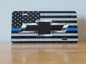 Chevy Blue Line Custom License Plate - Custom Car Tag - License Plate