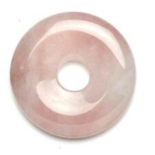 Colgante Donut 20MM Cuarzo Rosa Natural. Nuevo.