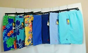 Polo Ralph Lauren men Swims Shorts Trunk solid -multi-color S-XL NWT