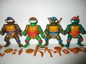 TMNT 1990 Ninja Turtles Storage Shell Figures (4) Leo - Raph -Donatello -Mikey