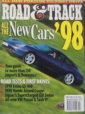 Road & Track magazine 10/1997 featuring Porsche, Ferrari, Honda, Lexus road test