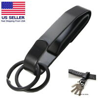 Black Detachable Quickdraw Keychain Belt Clip Key Ring Holder Quick Release EDC