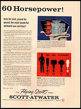 1958 Scott Atwater Flying Scott 60hp Outboard Vintage Print Ad