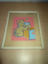 1943 MAGIC PICTURE CHILDRENS WALL ART BY NY-LITE. GLOWS IN THE DARK.