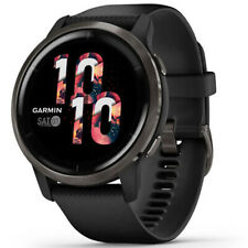 Garmin venu 2S Fitness Smartwatch-Slate Bisel Con Banda De Silicona Negro