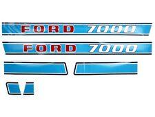 BONNET DECAL SET FITS FORD 7000 TRACTORS.
