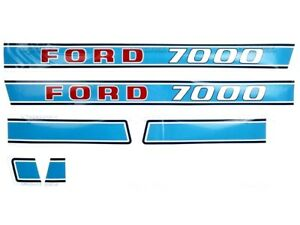BONNET DECAL SET FOR FORD 7000 TRACTORS