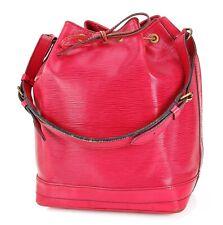 Authentic LOUIS VUITTON Noe Red Epi Leather Shoulder Tote Bag Purse #33712