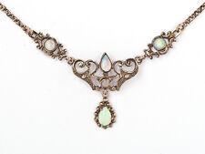 Opal Collier 925er Silber Rosé Vergoldet - Neu