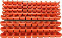 94 teiliges SET Lagersichtboxenwand Stapelboxen mit Montagewand Werkzeugwand