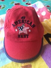 Carter's Infant Baseball Ballcap All American Baby Red Hat 3-9 Months