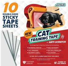 10-Pack Cat Scratch Deterrent Tape from Panther Armor -- BRAND NEW