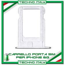 SIM Card Tray Slot Porta Scheda Vassoio SLOT holder per Apple iPhone 6 BIANCO