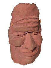 Vintage Clay Face Mask Wall Sculpture - Outsider Original Modern Art - Unsigned