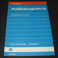 Betriebsschulung Audi Typ 81 GTE Motor Tassenstößel 100 200 Quattro Typ 44 1985!