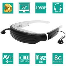 "HD 1080P 68"" Widescreen Virtual Theater 3D Video Game Glasses 8GB F/ TV Box DVD"
