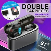 New Bluetooth 5.0 Headset TWS Wireless Earphones Mini Earbuds Stereo Headphones