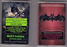 LOT of 2 Batman Forever and Batman & Robin Soundtrack Cassettes NEW