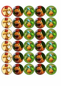 30 dinasaur train edible rice paper cup cake toppers,