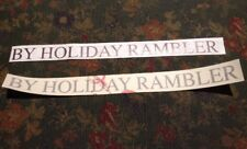 "BY HOLIDAY RAMBLER NEPTUNE LOGO RV TRAVEL TRAILER DECAL 17"" X 1"" IN SILVER"