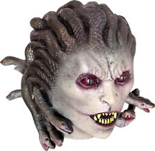 MEDUSA SNAKE HAIRED MONSTER LATEX HORROR HALLOWEEN HEAD & NECK MASK
