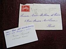 YVONNE GARRICK Autographe Signé 1902 ACTRICE THEATRE ODEON COMEDIE-FRANCAISE