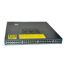 Cisco WS-C4948-S 48 X10/100/1000 Ports 4 X10G Ports Gigabit Ethernet Switch