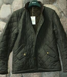 Barbour Powell Quilted Jacket Coat Green MQU0281GN72 New UK Sizing Medium M