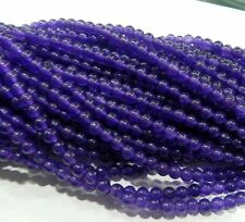 "4mm Russican Amethyst Gemstone Round Loose Beads 15"" JL63"