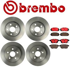 Front Rear Brake Disc Rotors Pads KIT Brembo For Lexus CT200h Toyota Prius Plug