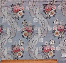 """French Antique 19thC Blue Silk Brocade Fabric in 18thC """"Marie Antoinette"""" Style"""
