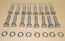 Chevy 1955-81 SB 327 350 Stainless Steel Exhaust Manifold Bolt Kit NEW