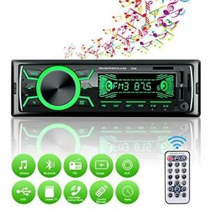 Autoradio Bluetooth Poste Radio Voiture USB TF AUX MP3 7 Eclairage +Télécommande
