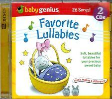 BABY GENIUS Favorite Lullabies 2CD Classic Childrens HUSH LITTLE BABY BOY BLUE