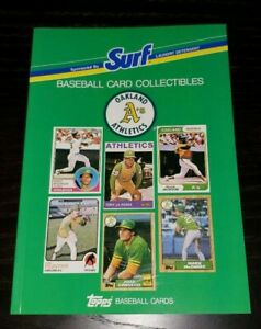 1988 Oakland A's Surf Topps Baseball Card Collectibles Book - ALL TOPPS CARDS